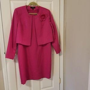Plus size bright pink suit/dress